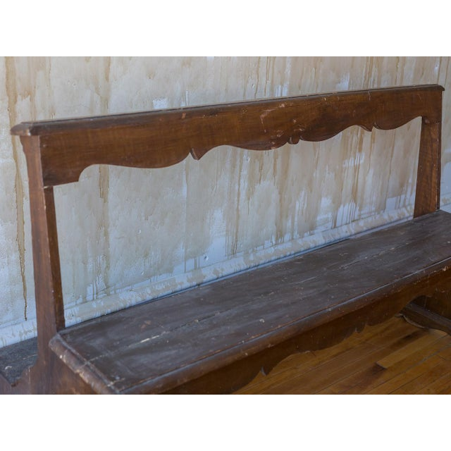 Italian Antique Church Pew For Sale - Image 9 of 12