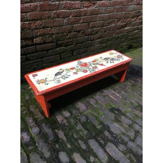 Hand Painted Folk Art Bench Preview
