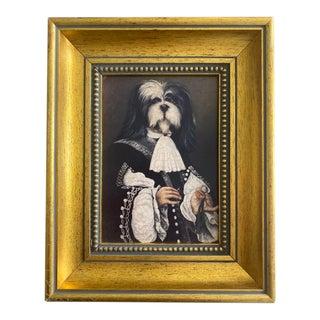 Vintage Sir Charles Dog Framed Painting For Sale