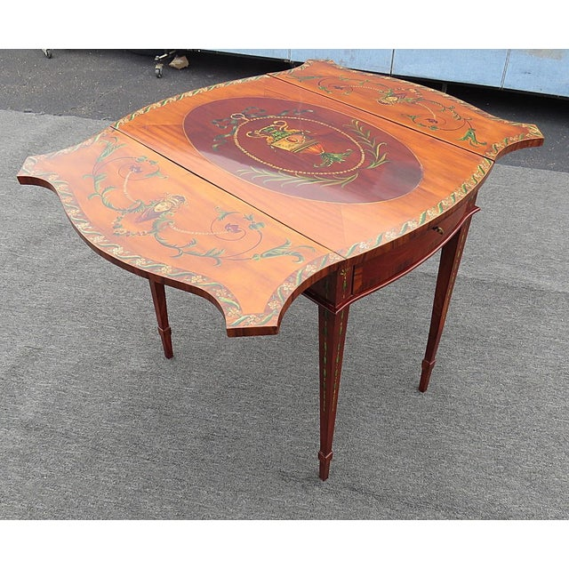 Adam's Style Pembroke Table For Sale - Image 11 of 11