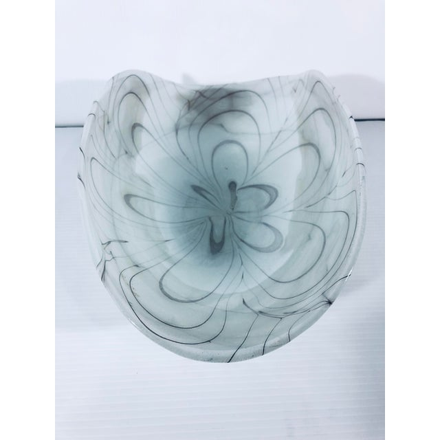1970s Vintage Murano Glass Bowl For Sale - Image 4 of 9