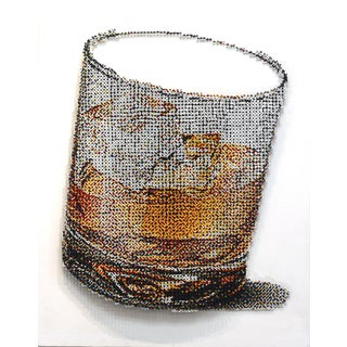 """Artem Ryskin """"Whisky on the Rocks"""" Contemporary Painting For Sale"""
