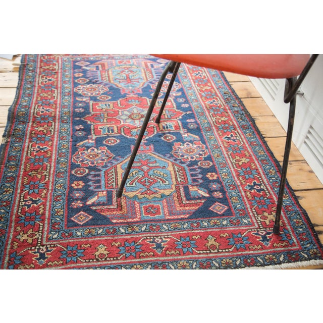 """Distressed Heriz Rug - 3' X 4'6"""" For Sale - Image 4 of 8"""