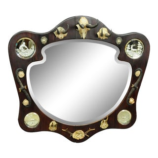 Outstanding Hunting Wall Mirror Ca. 1910 For Sale