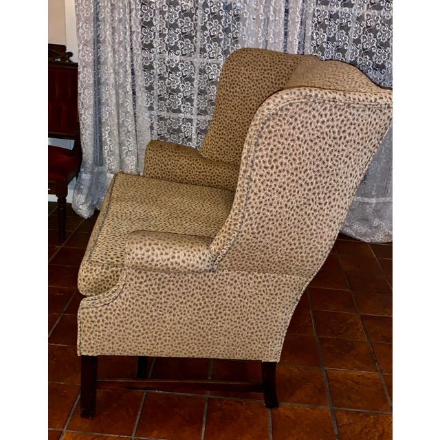 19th Century Antique Winged High-Back Settee For Sale - Image 4 of 7
