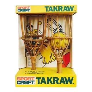 Vintage Takraw Rattan Catch Game