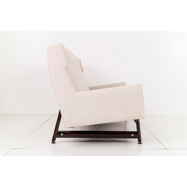 Modern Wing Back Sofa by Kasparian Brothers For Sale - Image 5 of 10