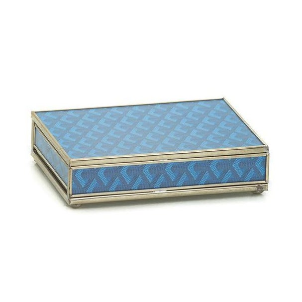 American Classical Goyard Inspired Playing Card Box For Sale - Image 3 of 3