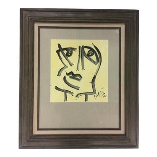 1995 Abstract Portrait Painting by Peter Keil For Sale