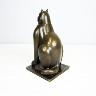 1990s Contemporary Cat Bronze Sculpture Preview