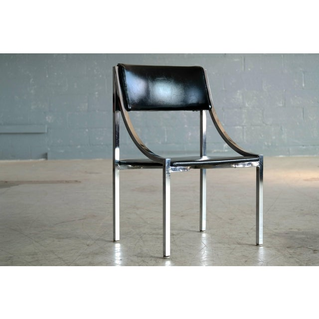 Wolfgang Hoffmann Side Chair in Chrome and Vinyl for Howell Company For Sale - Image 10 of 10