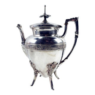 19th Century Aesthetic Movement Silverplate Tea or Coffiee Pot For Sale