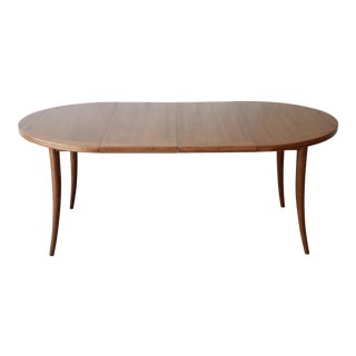 Harvey Probber Mid-Century Modern Mahogany Saber Leg Extension Dining Table For Sale
