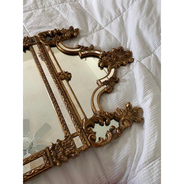 Hollywood Regency 1960s Vintage Large Hollywood Regency La Barge Gold Mirror For Sale - Image 3 of 12
