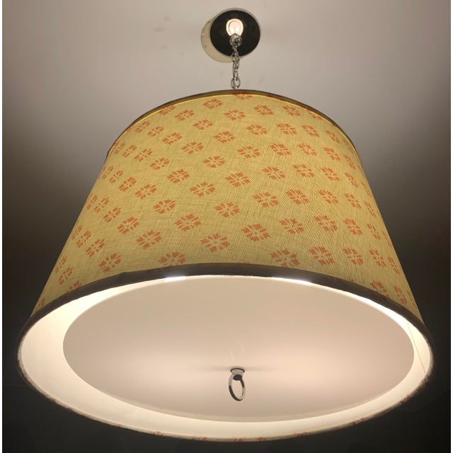 Custom Kathryn Ireland Fabric Pendant Light For Sale - Image 9 of 10