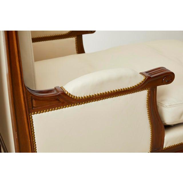 Maison Jansen Louis XVI Style Long Bergere Armchairs - a Pair For Sale - Image 10 of 13