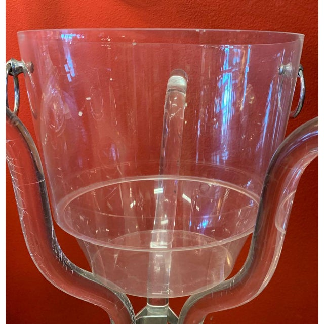 Dorothy Thorpe Lucite Stand and Champagne Bucket For Sale In Tampa - Image 6 of 9