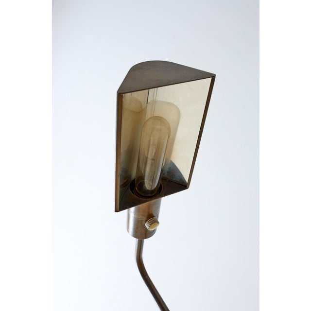Pair of Casella Brass Adjustable Pharmacy Floor Lamps For Sale In San Francisco - Image 6 of 13