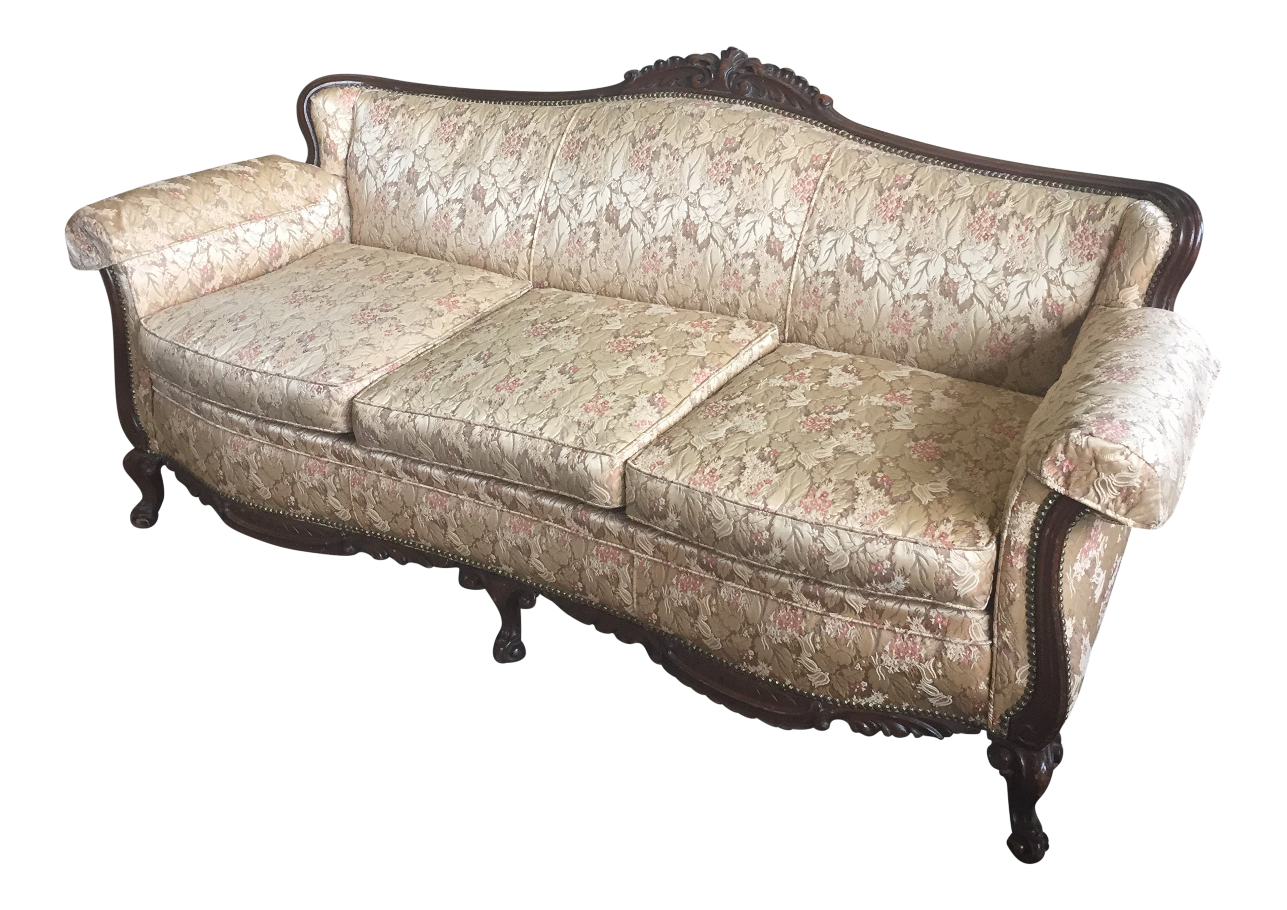 Mid 18th Century Vintage Carved Louis Xv Sofa Chairish