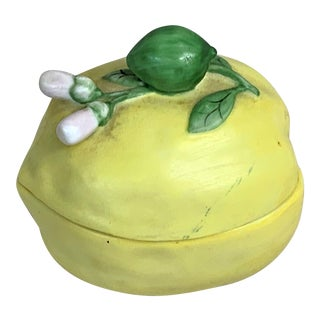 Metropolitan Museum Lemon Trinket Box For Sale