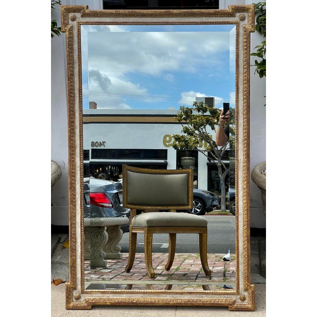 1990s 18th C Style Quatrain for Dessin Fournir Giltwood Neoclassical Mirror For Sale - Image 5 of 7