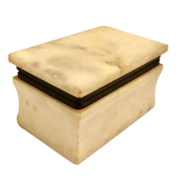 Cream 1940s Italian Marble Box For Sale - Image 8 of 8