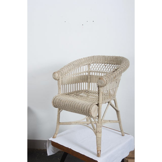 Rare Vienna Secession Wicker Armchairs by Hans Vollmer for Prag-Rudniker For Sale - Image 10 of 11