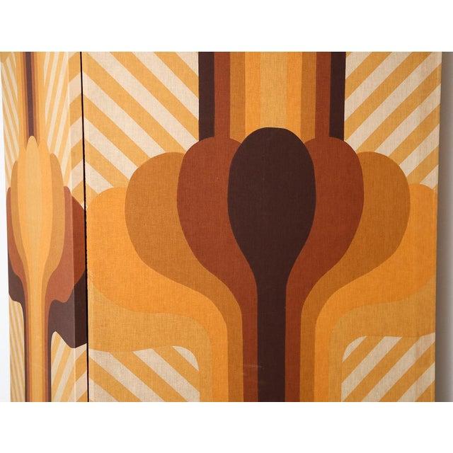 Minimalism Vintage 2-Panel Room Divider For Sale - Image 3 of 7