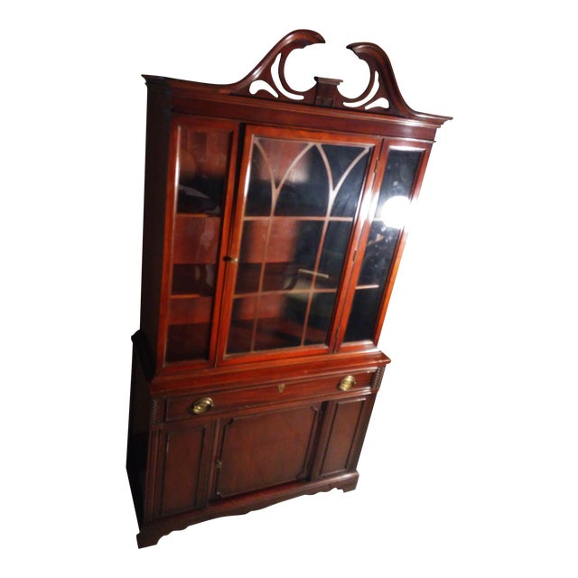 Bernhardt Mahogany Glass Front China Cabinet For Sale