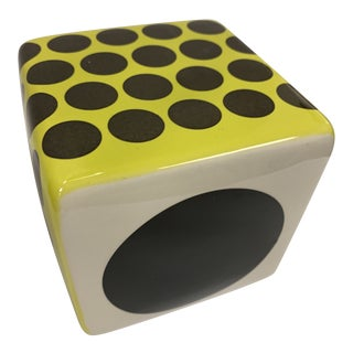 Contemporary Ceramic Cube Wall Sculpture For Sale