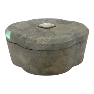 Shagreen Lidded Treasure Box For Sale