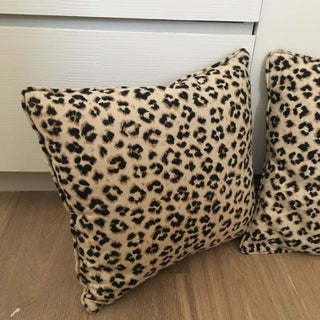 Arianna Belle Leopard Pillows - A Pair Preview
