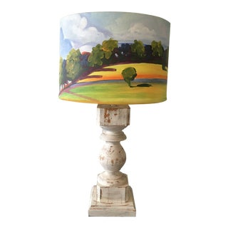 Scenic Countryside Lamp For Sale