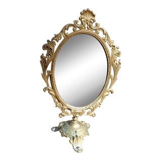 Antique Brass Swivel Table Vanity Mirror