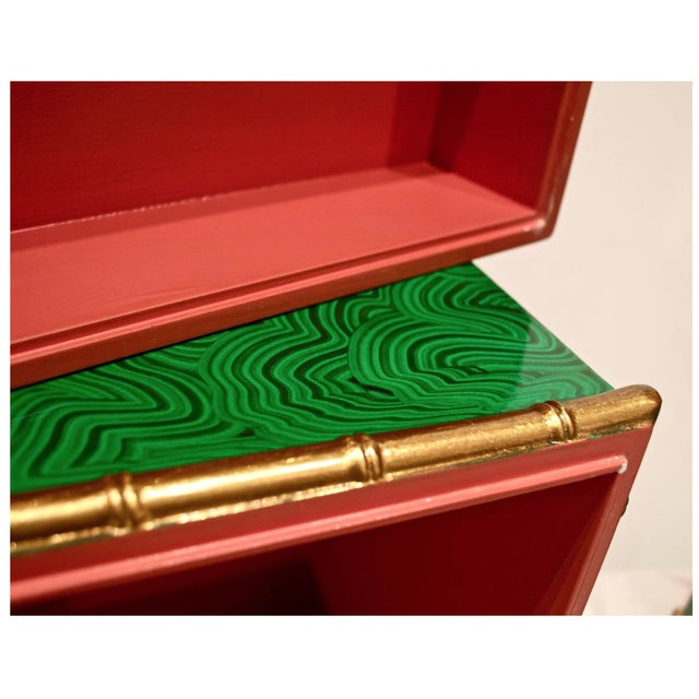 Faux Malachite Boxes - a Pair For Sale - Image 6 of 8