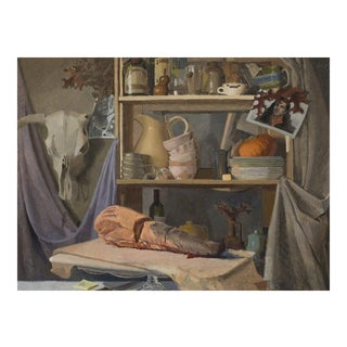 Original Still Life Oil Painting: Vanitas for Smithfields For Sale
