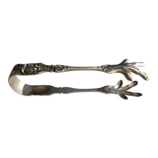 Franci I by Reed & Barton Sterling Ice Tongs For Sale