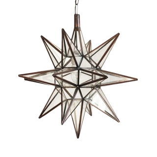 Moroccan Glass Star Lantern For Sale