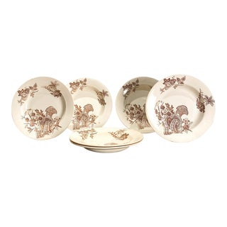 Set of 6 English Soup Bowls For Sale