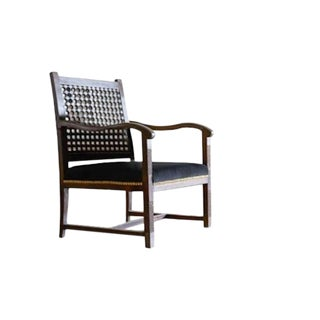 Hand Carved Moroccan Arm Chair For Sale