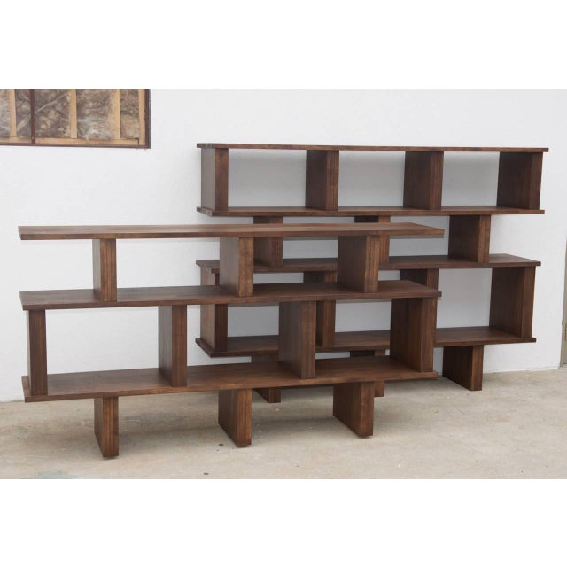 "Brown Contemporary Design Frères Tall ""Verticale"" Shelving Unit For Sale - Image 8 of 10"