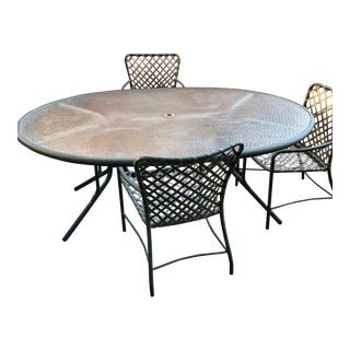 Brown Jordan Oval Patio Table and Chairs - Patio Dining Set