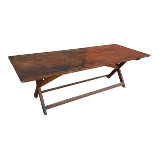 Antique American Primitive Farm Table For Sale