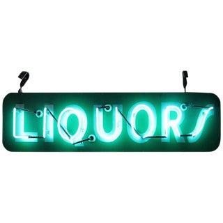 "1950s Vintage ""Liquors"" Neon Sign For Sale"