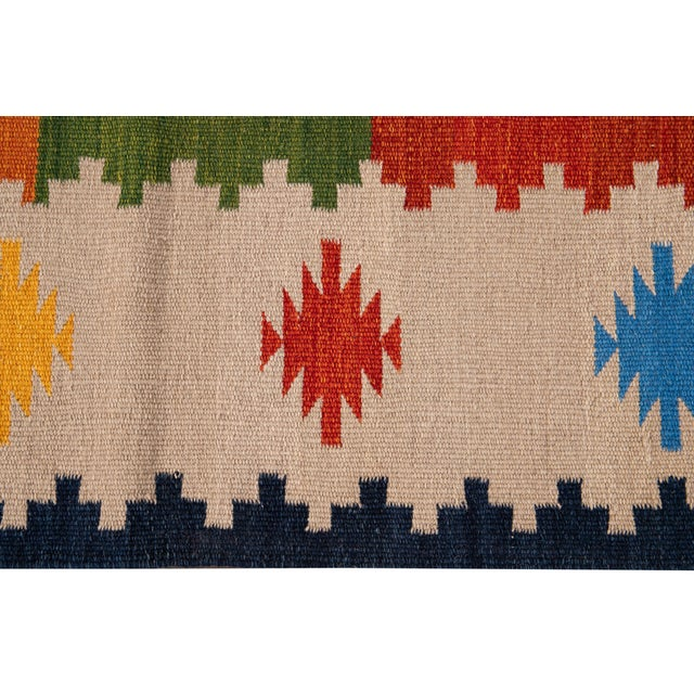 Textile 21st Century Modern Kilim Rug 5' 6'' X 8' 1'' For Sale - Image 7 of 12