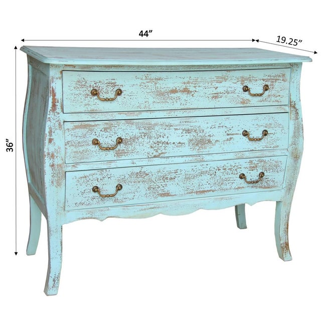Early 21st Century Rustic Gilbert Three Drawer Wooden Chest For Sale - Image 5 of 7
