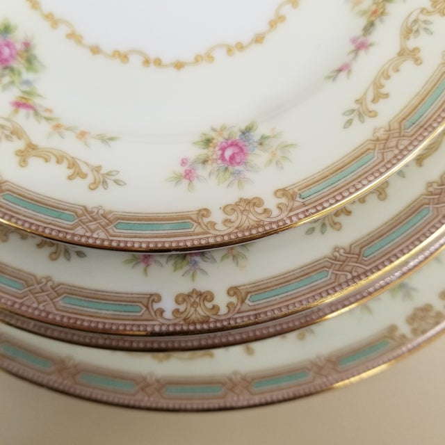 Transitional 1940s Noritake Eire Pattern Fine China - Set of 24 For Sale - Image 3 of 7