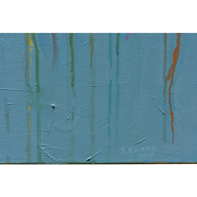 "2010s Abstract ""Bouquet on a Blue Ground"" Painting by Stephen Remick For Sale - Image 5 of 13"