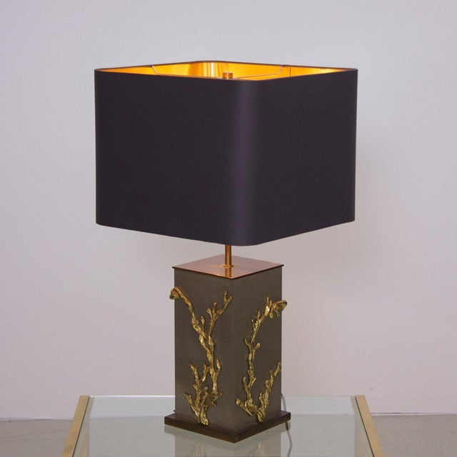 Contemporary Huge Bronze Algue or Corail Table Lamp by Maison Charles, Signed For Sale - Image 3 of 6