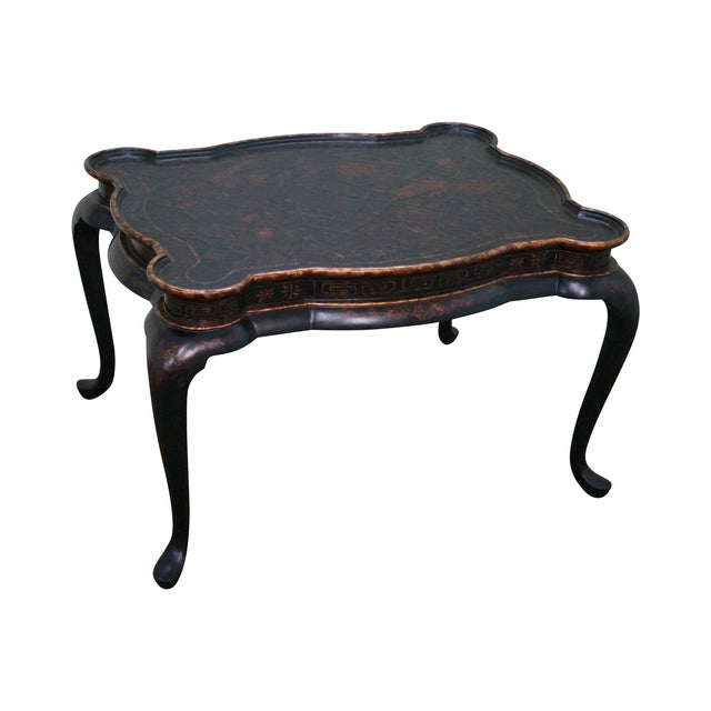 Maitland-Smith Chinoiserie Decorated Coffee Table - Image 1 of 10
